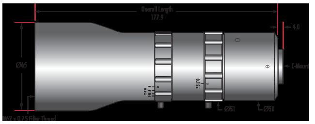 0.25X - 0.5X Telecentric VariMagTL™ Lens (#88-385)